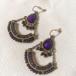 Jewelry - Purple statement earrings
